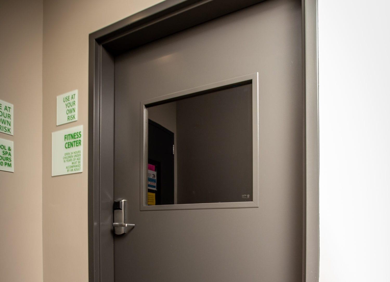 borrowed lites steel door frame